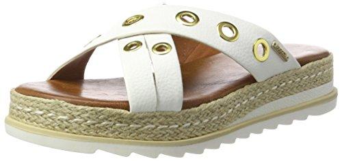 Bugatti Damen J93906N Pantoletten, Weiß (Weiß 200), 38 EU