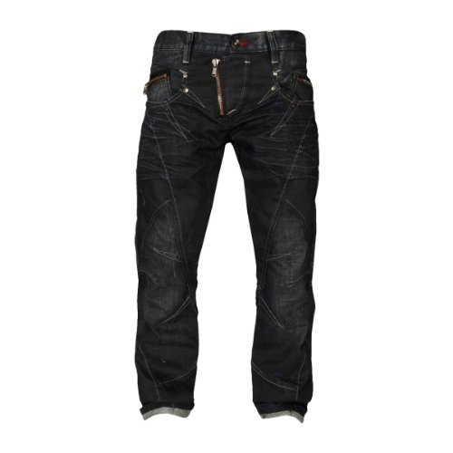 Cipo & Baxx Herren Straight Leg Jeans C-0751 Blue Denim