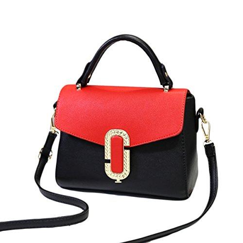 KYFW Frauen-Art- Und Weisehandtaschen-Schulter-Kurier-Handtaschen-Schlag-Farben-weibliches Paket C