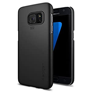 Spigen Thin Fit Galaxy S7 Case with SF Coated Non Slip Matte Surface for Excellent Grip for Samsung Galaxy S7 2016 - Black