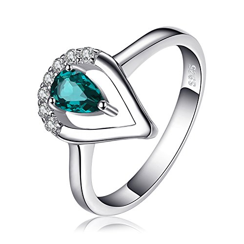 JewelryPalace Fashion 0.45 ct Nano Russischer Simulierter Smaragd Ring 925 Sterling Silber -