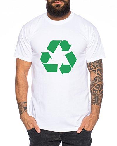 Recycling Nerd Herren T-Shirt in verschiedenen Farben Weiß