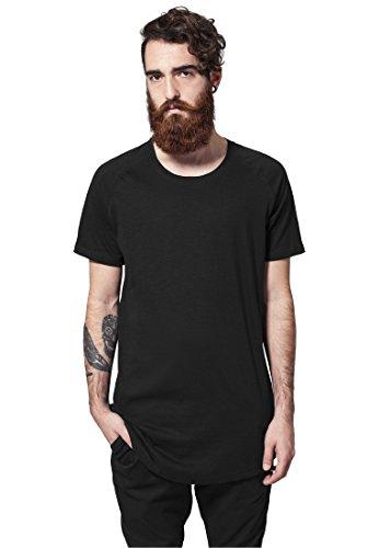 Urban Classics Herren Long Shaped Slub Raglan Tee T-Shirt, Color:black;Größe:M