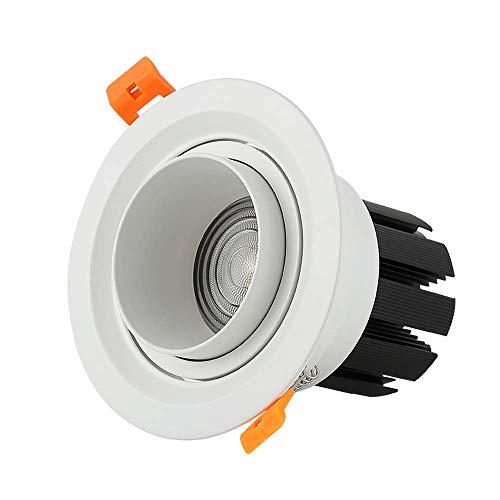 Vinteen COB Spotlight Dimmable Intelligent Réglable Zoom Plafonnier LED 5W 7W 10W Incorporé Commercial Applique Murale Lustre Pendentif Lumières (Color : White light, Taille : 10w)