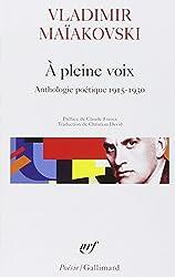 A pleine voix : Anthologie poétique, 1915-1930