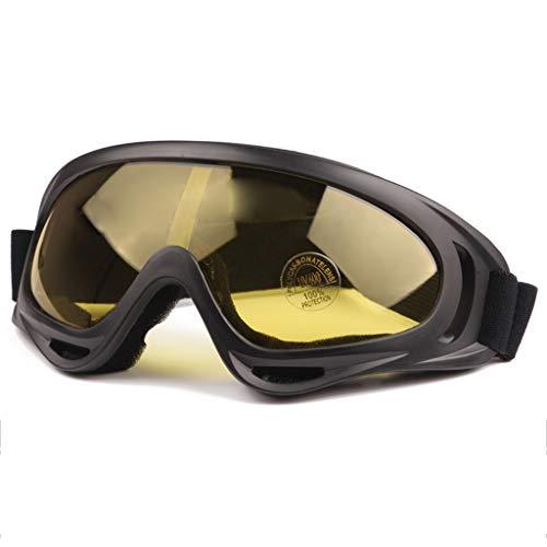 MUTANG Motorrad-Schutzbrillen-UVschutz-Justierbare im Freiengläser staubdichte Schutzbrille-im Freienfahrrad-Fahrrad-Gläser-windundurchlässiger Spiegel (Farbe : C)