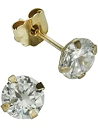 Fascination by Ellen K. - F216320038 - Boucles d'Oreilles Femme - Or jaune 333/1000 (8 carats) - Oxyde de Zirconium