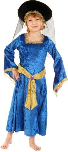 Girls Mary Tudor Lady Historische Kostüm 7-9 Jahre [Spielzeug]