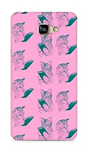 Amez designer printed 3d premium high quality back case cover for Samsung Galaxy A9 (mart phone cats )