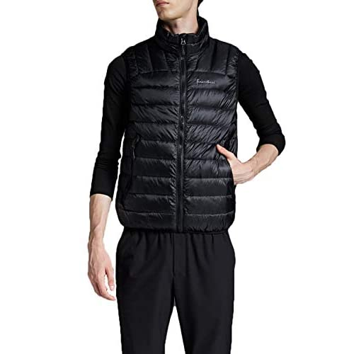 41cGtCORgcL. SS500  - NBWS Men's Down Vest Quilted Gilet Mandarin Collar Vest Bodywarmer Sleeveless Slim-fit Outdoor Vests