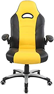 Racoor Video Gaming Chair, Black and Yellow - H 121 cm x W 52 cm x D 49 cm