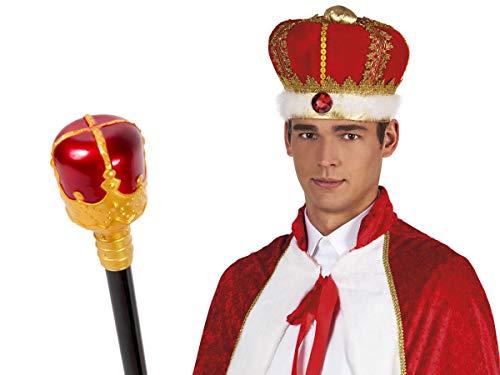 (Alsino Prinz König Köstum Set 2-teilig (Kv-149) mit Krone und Königs-Zepter)