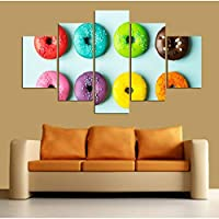 OLAJSDD Colorful donuts wall art poster HD print painting modular images modern home decoration fixed life print