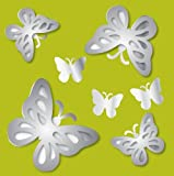 Brewster MA99951 3D Butterflies Peel and Stick Mirror Art by Brewster