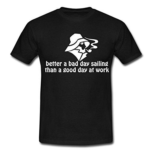 Spreadshirt Segel Spruch Sailing Segeln Spruch Männer T-Shirt, 3XL, Schwarz