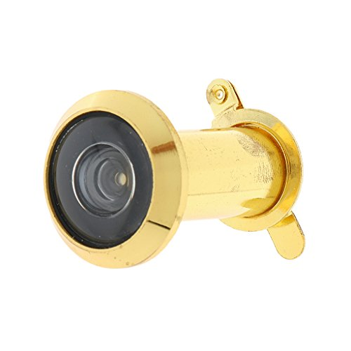 MagiDeal Adjustable Home Security 200 Degree Wide Angle Door Viewer Peep Sight Hole with Privacy Rear Cover Fits Door Thickness 35-60mm(Golden Color)  available at amazon for Rs.325