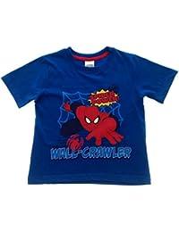 Marvel Boys Short Sleeve Ultimate Spiderman T Shirt Kids Summer Top Childrens Clothing Size UK 2-8 Years