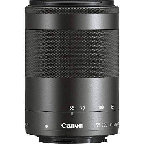 Canon Objektiv EF-M 55-200mm F4.5-6.3 IS STM Zoomobjektiv Teleobjektiv Lens für EOS M (52mm Filtergewinde, Optischer Bildstabilisator) schwarz