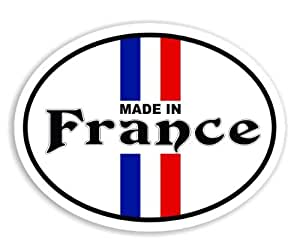Made In France - French Flag Voiture Autocollant / Car Sticker Sign
