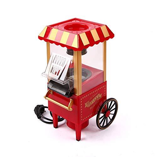 Popcorn-Maschine, Heißluft-Popcorn-Popper, Handlauf-Auto-Form-Mini-Elektro-Popcorn-Hersteller für zu Hause kein Öl erforderlich, humanisiertes Design mit Messbecher und abnehmbarer oberer Abdeckung