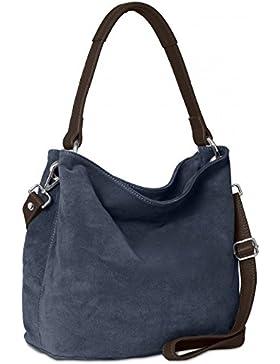 CASPAR TL580 Damen Handtasche aus hochwertigem Wildleder