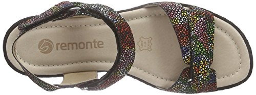 Remonte Dornorf D2751 Sandali Aperti Da Donna Multicolore (nero-multi / 90)