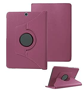 "for Galaxy Tab A 8"" 8.0 inch Tablet SM- T350 T355 T351 (year 2015 Released) 360° Degree Rotating Rotary (Swivel Stand) PU Leather Folio Flip Cover case (Purple.)"