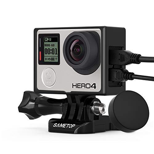 Sametop Rahmenhalterung Gehäuse Rahmen mit Lens Cap Kompatibel mit GoPro Hero 4, Hero 3+, Hero 3 Kameras