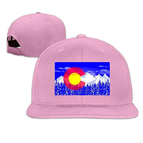 AOHOT Herren Damen Baseball Caps,Hüte, Mützen, Classic Baseball Cap, Colorado Flag Mountain Washed Unisex Flat Bill Visor Hip-Hop Hat