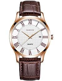 f34d9e4cd52d3 Amazon.es  relojes con numeros romanos - Relojes de pulsera   Hombre ...