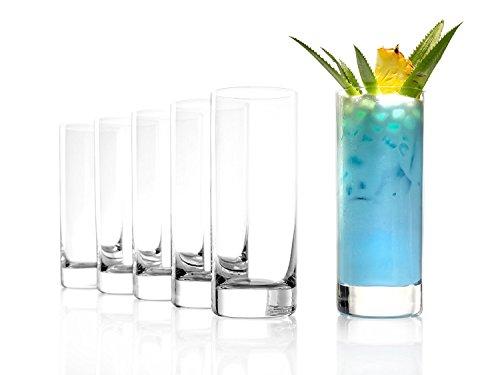 Stölzle Lausitz New York Bar Saftgläser groß 380ml, 6er Set Wassergläser, spülmaschinenfest, bleifreies Kristallglas, hochwertige Qualität (New York City Tumbler)