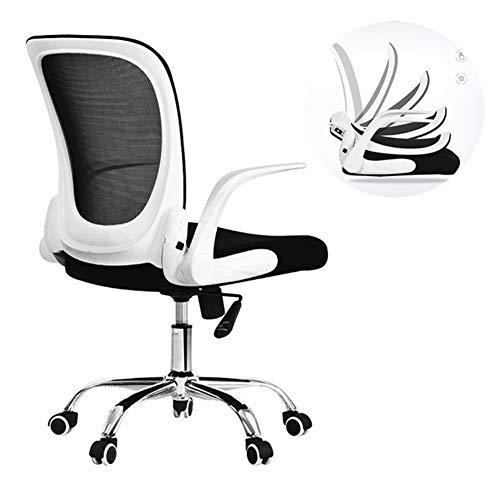 HUINING Ergonomischer Schreibtischstuhl, Drehstuhl Hat Verstellbarer Lordosenstütze Und Armlehne Höhenverstellung Und Rückenschonend,Gray,Nylon