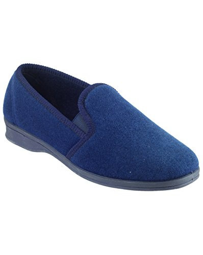 Mirak Tessile classica Superiore Navy Shepton Sulle Blu Uomo Scarpe Pantofole Slittamento rxrqpwIf