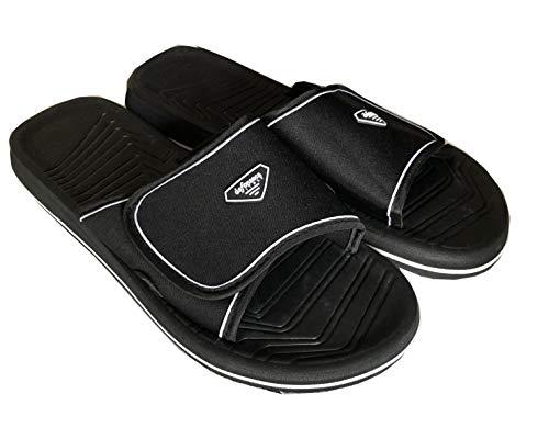 De fonseca pantofole ciabatte mare uomo con strappo art de amalfi m507 (42/43, nero)