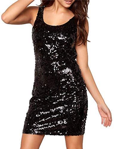 17f6cb8c7 holidaysuitcase Lentejuela Sexy Vestidos Ajustado Escotado Espalda Vestido  De Fiesta Size 6