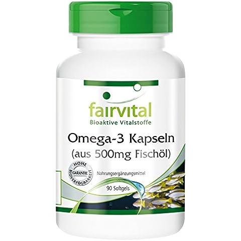 Fairvital - Omega-3 in capsula - 500mg di olio di