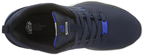 Lotto Cityride Amf, Chaussures de Running Entrainement Homme Multicolore - Azul / Negro (Nvy Dk / Blk)