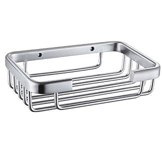 KES A4040 baño jabonera/soporte pared, aluminio