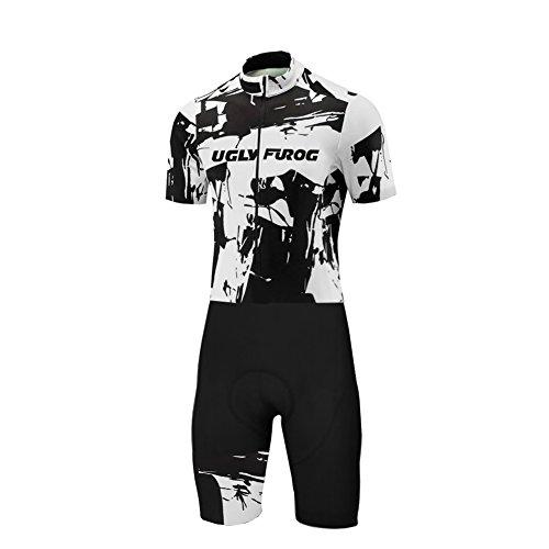 Uglyfrog Männer Radtrikot Set Sommer & Herbst Kurzarm Radfahren Skinsuit mit 3D Sitzpolster Herren Fahrradtrikot Triathon Fahrradanzug LTFX01