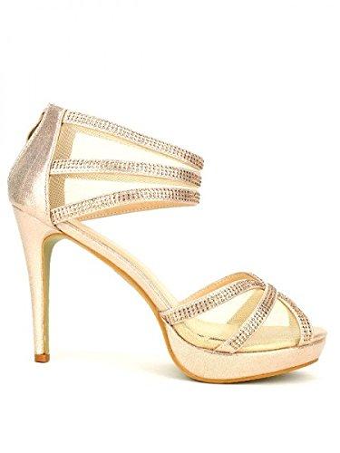 Cendriyon, Escarpin doré GAOLS Chaussures Femme Doré