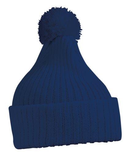 Blaue Kostüm Mütze - Myrtle Beach - Strickmütze mit Pompon / Bommelmütze / navy, One Size