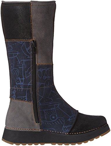 Art Damen Heathrow 1025 Klassische Overknee-Stiefel Bleu (Lux Printed Ocean)