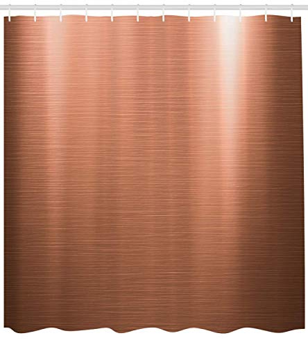 Abstract Shower Curtain, Indusrial Plate Facade Illustration Tough Construction Element Modern, Fabric Bathroom Decor Set with Hooks, Coral Chocolate,Size:66W X 72L Inche 66 Chocolate Mold