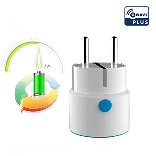 NEO COOLCAM NAS-WR01ZE Netzsteckdose Smart Adapter Stecker Kabellose Fernbedienung Kompatibel mit Z-wave 300 Series und 500 Series Home Automation für Smart Home -