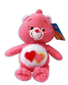 Groschéri 16/23cm Peluche Ours Les Bisounours Care Bears Love Bear Rose Nounours Poupée