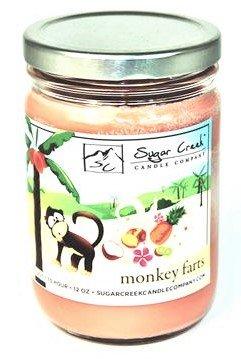 Sugar Creek Kerzen Monkey Farts (Insane Tropical Fruit) 100% Sojawachs Kerze. Soja Kerzen brennen von ~ länger ~ ungiftig ~ Das Original 100% yinzer Made in USA. Geschenk für jeden Anlass (16oz) -