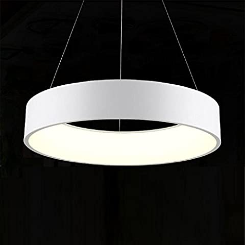 Hailongwang Led Circular Dining Room Chandelier Atmospheric Living Room Lamp Bedroom Dining Room Study Style Lamps