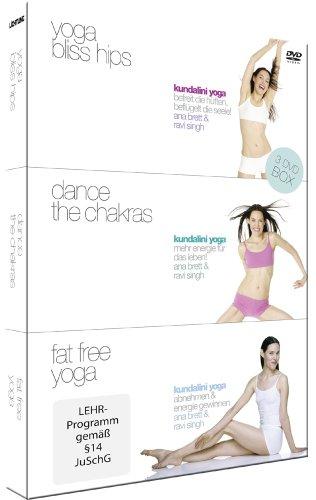 Kundalini Yoga Box - 3 DVD's (Yoga Bliss Hips, Dance the Chakras, Fat Free Yoga)