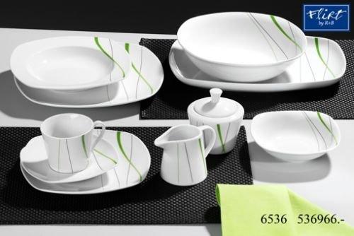 Flirt By R&B Geschirr-Serie Grace Material Servierplatte oval 32 cm Grace