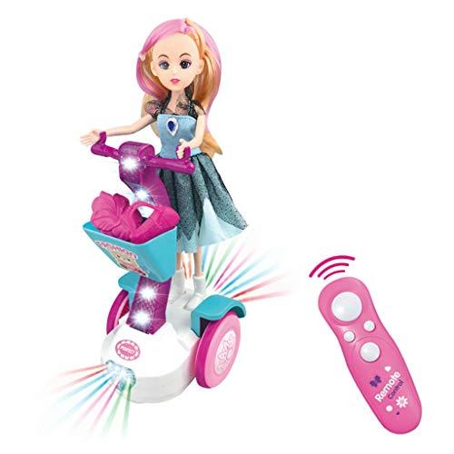 Elektrische Balance Auto Puppe Set Geschenkbox Kinder Beleuchtet Musik Spiel Spielzeug YunYoud kinderzimmer Spielzeug Kids Spielzeug günstig kinderspielzeug